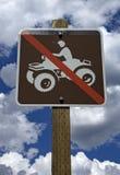 Kein ATV erlaubtes Zeichen lizenzfreies stockfoto