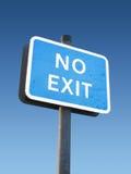 Kein Ausgangs-Zeichen Stockbilder