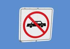 Kein Autozeichen stockfoto
