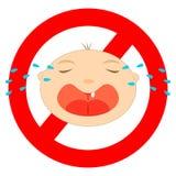 Kein Babyzeichen stock abbildung