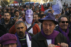 Kein Berlusconi Tag, Rom 5/12/09 Lizenzfreies Stockbild