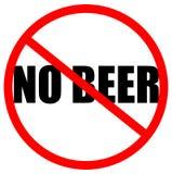 Kein Bier erlaubt Stockbild