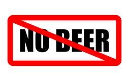 Kein Bier erlaubt Stockbilder