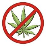 Kein Droge-Zeichen vektor abbildung