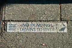 Kein Dumpingzeichen Stockfoto