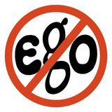 Kein Egozeichen lizenzfreie abbildung