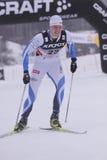 Kein Einaste - Querland-Skifahrer Lizenzfreies Stockfoto