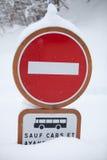 Kein Eintrag-Zeichen-Winter lizenzfreies stockfoto