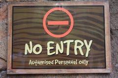 Kein Eintritt stockbild