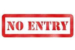 Kein Eintritt Lizenzfreie Stockbilder
