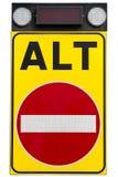 Kein Eintritts-Verkehrsschild lokalisiert Lizenzfreie Stockbilder