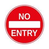 Kein Eintritts-Verkehrszeichen, lokalisiert auf dem Weiß, Illustration Stockbilder
