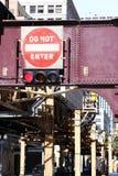 Kein Eintritts-Zeichen auf einer Stadt Straße Lizenzfreie Stockfotografie