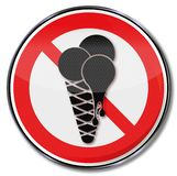 Kein Eis und Essen der Eiscreme im Auktionslokal vektor abbildung