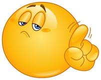 Kein Emoticon Lizenzfreies Stockfoto