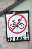 Kein Fahrradschild Lizenzfreies Stockbild