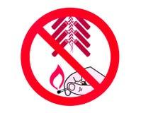 Kein Feuerwerkzeichen Lizenzfreie Stockfotografie