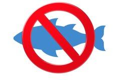 Kein Fischenzeichen Lizenzfreie Stockbilder