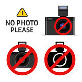 Kein Fotokamerazeichen Lizenzfreies Stockfoto