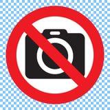 Kein Fotokamerazeichen Kein Fotographien-Zeichen Stockfotos