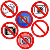 Kein Fotokamerazeichen Kein Foto Ikonen-Knopf Stockfoto