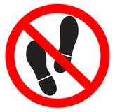 Kein Fuß gewährt Stockfoto