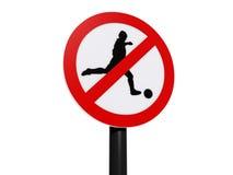 Kein Fußballzonenzeichen Lizenzfreie Stockfotos