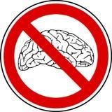 Kein Gehirn - keine Schmerz Lizenzfreies Stockbild