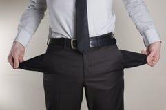 Kein Geld Lizenzfreies Stockfoto