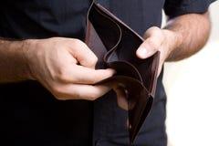 Kein Geld Stockbild