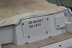Kein Geld keine Liebe Lizenzfreies Stockfoto