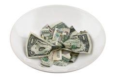 Kein Geld - keine Nahrung Stockfotografie