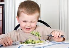 Kein Gemüse für mich Stockbild