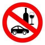 Kein Getränk und Antrieb stock abbildung