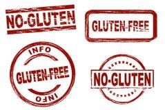 Kein Glutentinten-Stempelsatz vektor abbildung