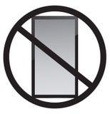 Kein Handygebrauch Stockfoto