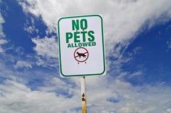 Kein Haustierzeichen stockfoto
