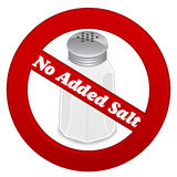 Kein hinzugefügtes Salz Lizenzfreies Stockfoto