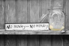 Kein Honig, kein Geld Lizenzfreie Stockfotografie