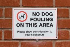 Kein Hund, der Sigb verschmutzt stockfoto
