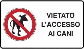Kein Hund erlaubt vektor abbildung