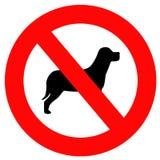 Kein Hundezeichen stock abbildung