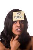 Kein Ideenweiß Lizenzfreies Stockbild