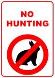 Kein Jagdzeichen Lizenzfreies Stockfoto