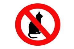 Kein Katzezeichen Lizenzfreie Stockfotografie