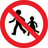 Kein Kinderspielzeichen Stockbild