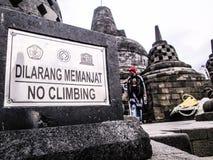 Kein Klettern Stockfotografie