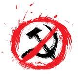 Kein Kommunismussymbol Lizenzfreie Stockfotos