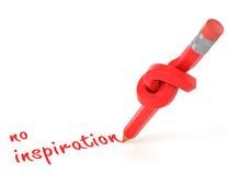 Kein Konzept der Inspiration 3d Stockbilder