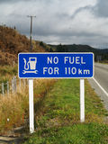 Kein Kraftstoffzeichen Stockbild